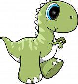 Cute Dinosaur Vector Illustration Art
