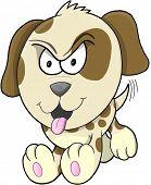 Tough Puppy Dog Vector Illustration Art