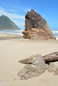 Rocks On Scotts Beach At The Start Of Heaphy Track