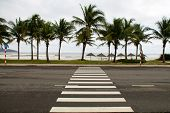 Crosswalk On The Seafront