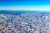 clouds from an airplane