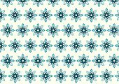 Blue Tribal Bloom And Lobe Pattern On Pastel Background