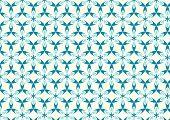 Blue Modern Sweet Blossom Pattern On Pastel Background