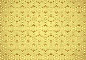 Gold Modern Sweet Blossom Pattern On Pastel Background