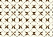 Brown Sweet Bloom In Abstract Shape Pattern On Pastel Background
