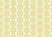 Gold Lovely Bloom In Modern Shape Pattern On Pastel Background