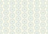 Silver Lovely Bloom In Modern Shape Pattern On Pastel Background