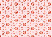 Orange Abstract Circle Pattern On Pastel Background