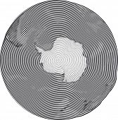 Guilloche Vector Illustration of South Pole Uzumaki stile