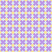Purple Claw Of Crab And Circle And Triangle And Swirl Pattern
