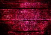 Old Red Grunge Wood Background With Knots And Scratches. Wood Plank Texture Of Bark Wood Natural Bac
