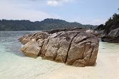 Large Boulders On The Beach