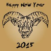 Cninese new year 2015 wooden goat