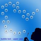 upper case alphabet in bubbles