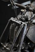 Vintage Motorcycle Front Suspension