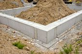 Concrete Block Foundation For Urban House