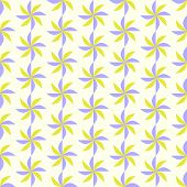 Purple And Yellow Turbine Seamless Pattern On Pastel Background