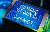 the chemical formula of Thiamine (vitamin B1)
