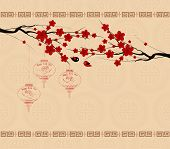 Chinese New Year greeting card background