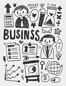 Business Elements Doodles Hand Drawn Line Icon,eps10