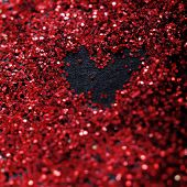 Red Glitter And Sparkles For Valentine's Day