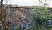 Bridge over Zambezi River connecting Zambia and Zimbabwe, Victoria Falls
