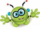 Cute Green Robot