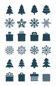 Christmas season vector elements collection isolated on white. Greeting card elements
