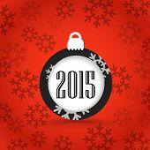 Christmas greeting card template. 2015