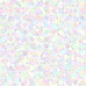 Abstract vector background Pastel color circles mosaic Seamless pattern