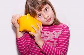 Teen Girl With Moneybox