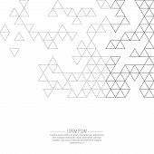 Creative abstract triangle pattern. Polygonal  background. Hipst