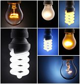Light bulbs collage