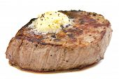 Perfect roast pork tenderloin fillet steak.