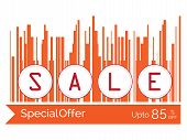 Vector Illustration Concept Of Sale Word
