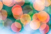 Colorful Circles Of Bokeh Light Abstract