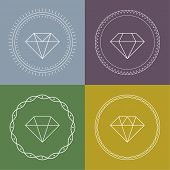 Set gemstones round banner.