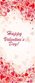 Vertical banner for Valentines day