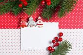 Blank christmas greeting card with decor