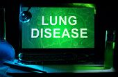 Notebook with words  Lung Disease