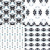 Seamless geometric watercolors in black and blue trendy fashion background pattern