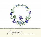 Hand drawn  of romantic floral invitation. Vector watercolor.   Wedding, marriage, bridal, birthday.