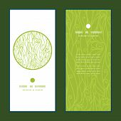 Vector abstract swirls texture vertical round frame pattern invitation greeting cards set