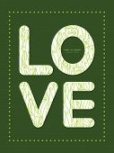 Vector abstract swirls texture love text frame pattern invitation greeting card template