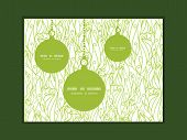 Vector abstract swirls texture Christmas ornaments silhouettes pattern frame card template