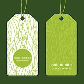 Vector abstract swirls texture vertical round frame pattern tags set