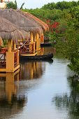 Tropical beach houses in Mexico