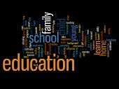 High resolution concept or conceptual education abstract word cloud isolated on background