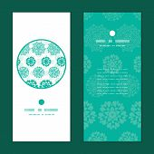 Vector abstract green decorative circles stars striped vertical round frame pattern invitation greet