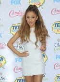 LOS ANGELES - AUG 10:  Ariana Grande arrives to the Teen Choice Awards 2014  on August 10, 2014 in Los Angeles, CA.